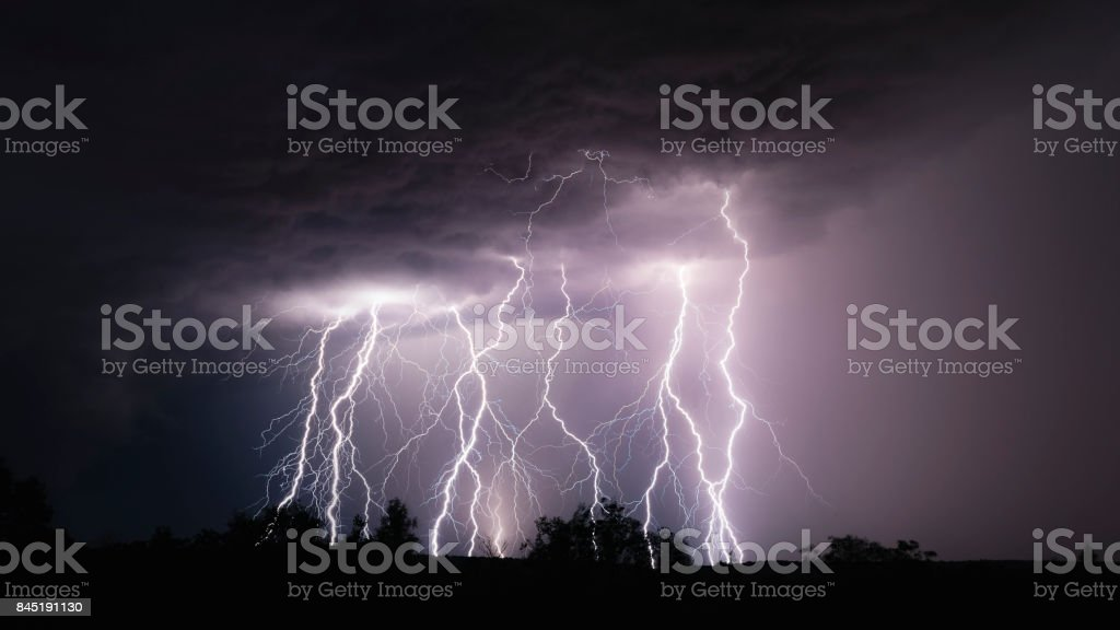 Massive discharge stock photo
