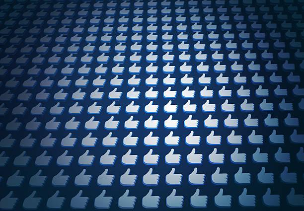 """massive facebook mit """"gefällt mir"""" social media beliebtheit - editorial stock-fotos und bilder"""