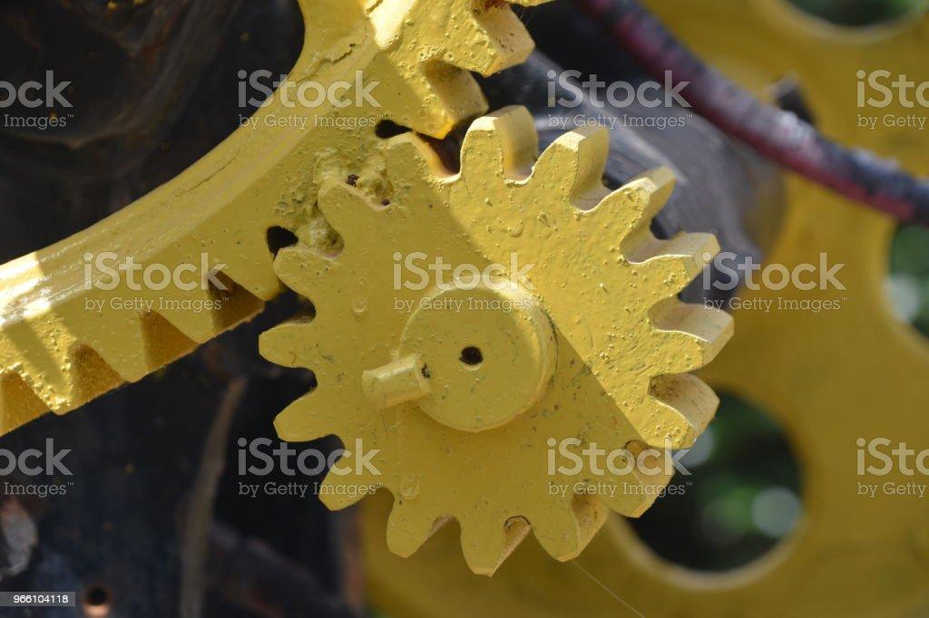Massive gear - Royalty-free Amarelo Foto de stock