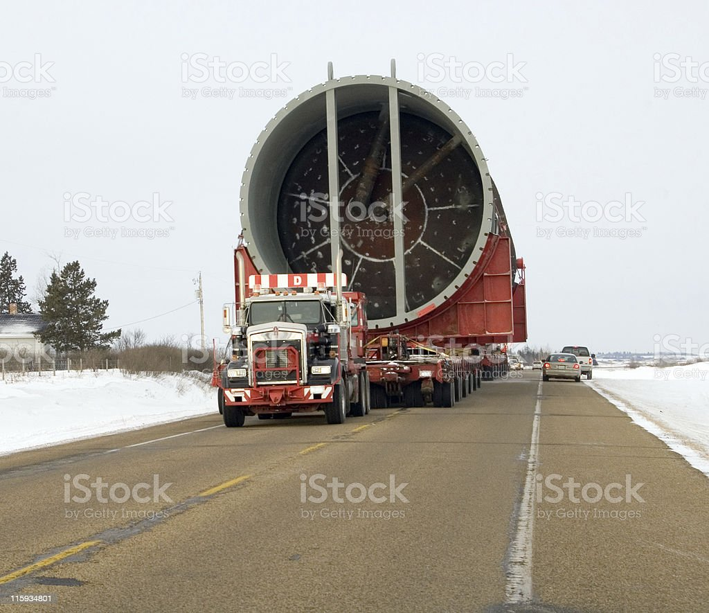 Massive Highway Transport royalty-free stock photo