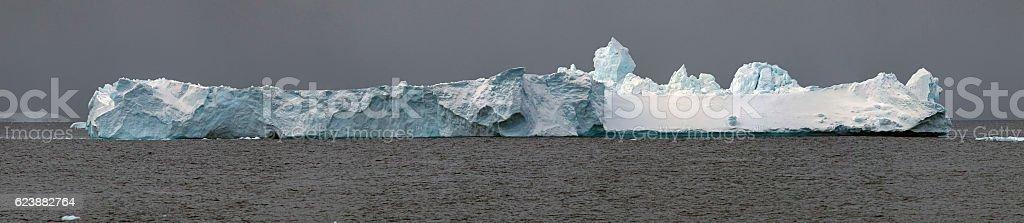 massive iceberg panorama stock photo