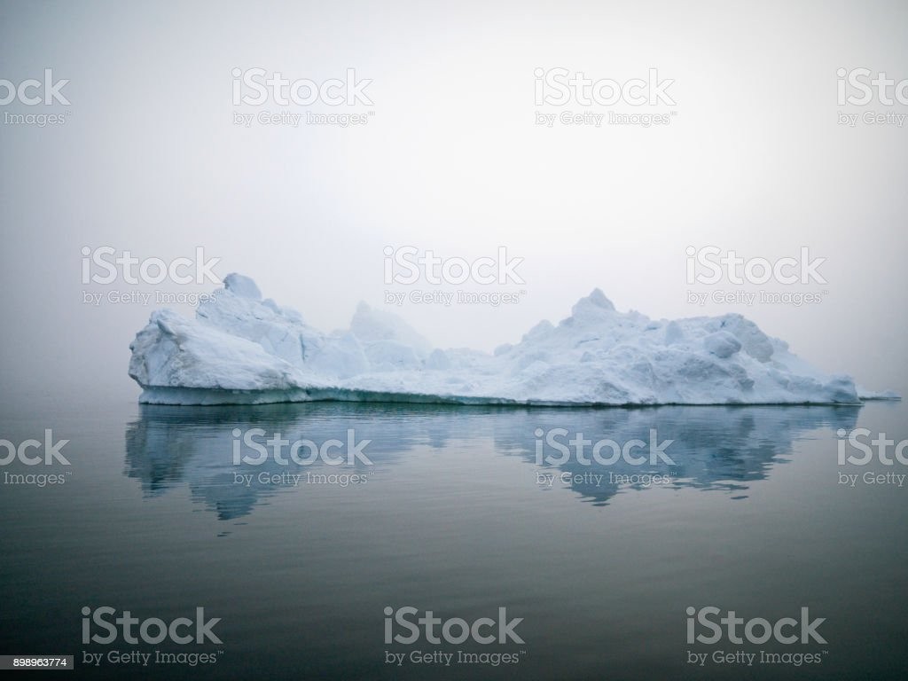 Massive Icebergs on Arctic Ocean in Greenland. Climate change