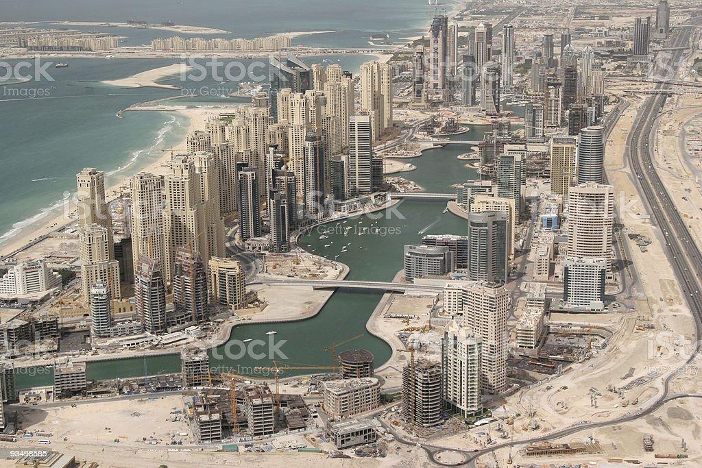 Massive Oceanfront Developments In Dubai royalty-free stock photo