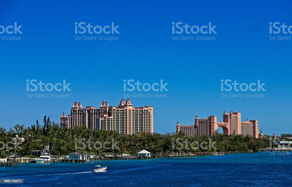 Massive Pink Resort and Yachts royalty-free stock photo