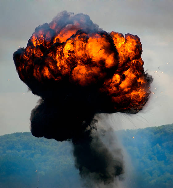 Massive Round Explosion stock photo