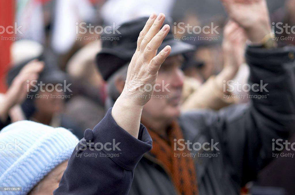 Mass-meeting royalty-free stock photo