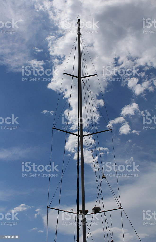 mast against a blue sky royalty-free stock photo