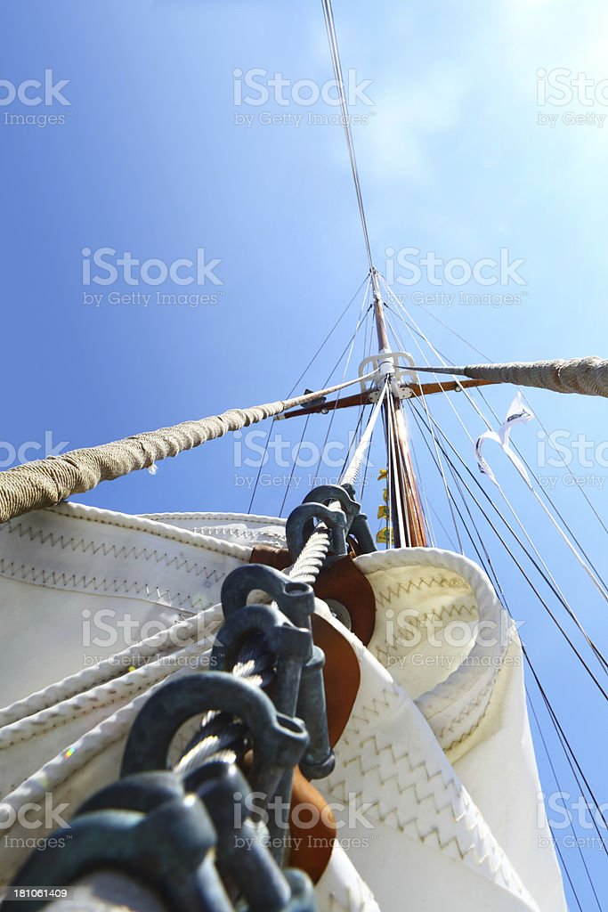 Mast against the sky royalty-free stock photo