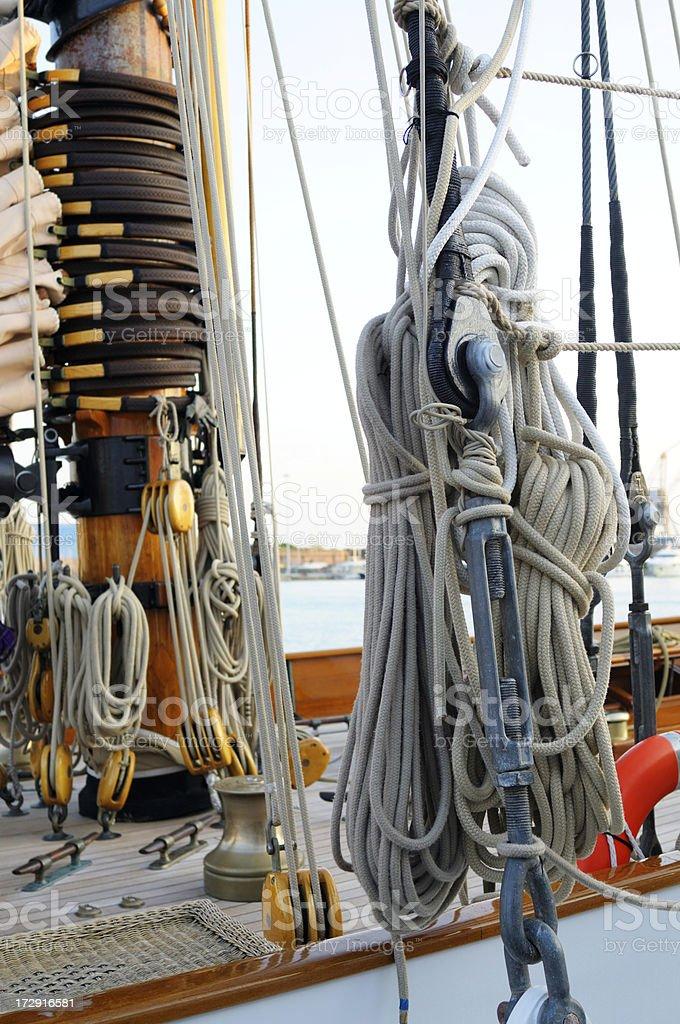 Mast and ropes royalty-free stock photo