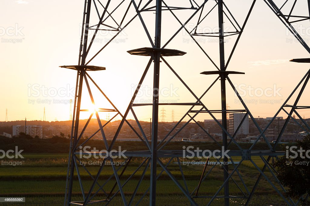 Mast electrical. stock photo