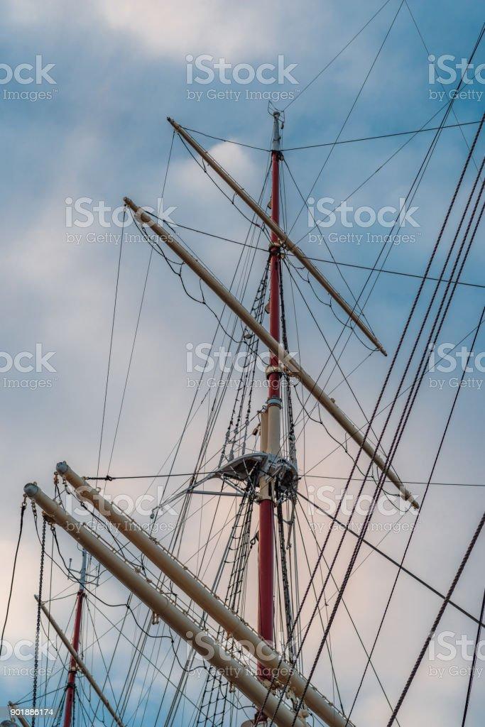 mast from a sailing ship – zdjęcie