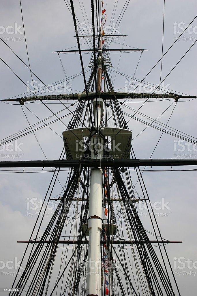 Mast Rigging royalty-free stock photo