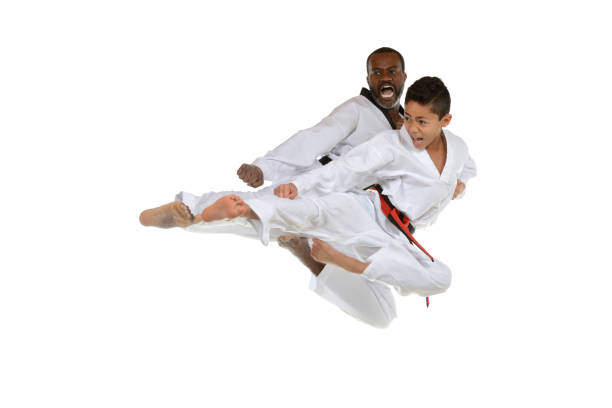 master and student - martial arts gerville stock photos and pictures