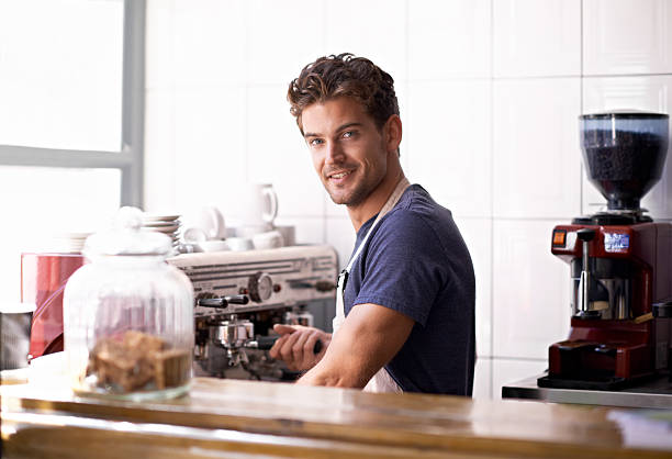 master barista at work - charming stock photos and pictures