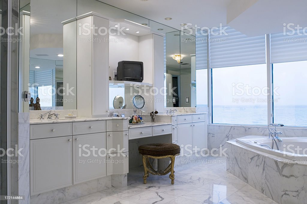 Master Bath stock photo
