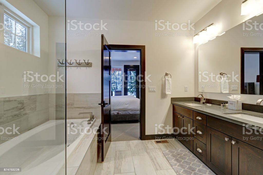 Image of: Master Bathroom Interior With Double Sink Vanity Stock Photo Download Image Now Istock