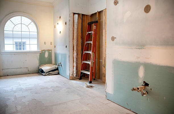 Master Bathroom Remodeling and Renovation in Progress stock photo