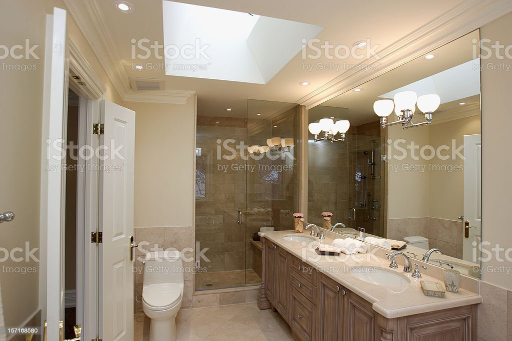 Master Bathroom view royalty-free stock photo