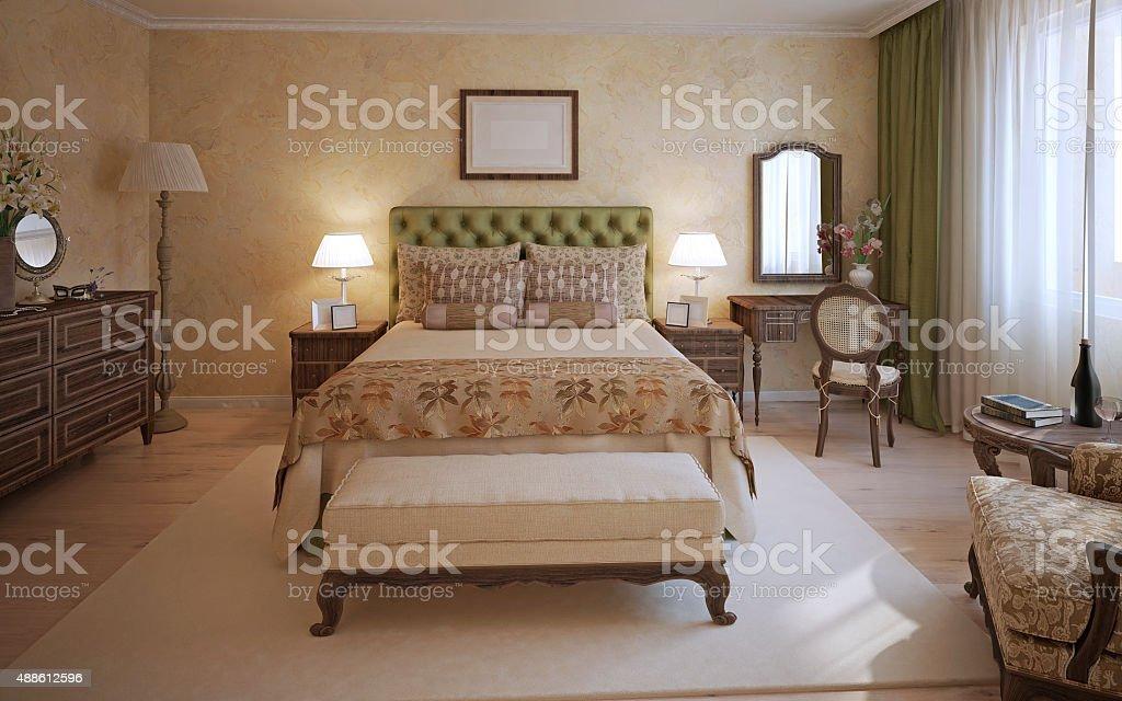 Camera Matrimoniale Stile Inglese.Master Camera Da Letto In Stile Inglese Fotografie Stock E Altre
