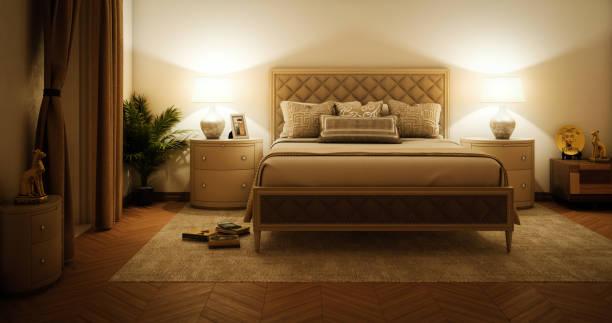 Master Bedroom Interior stock photo