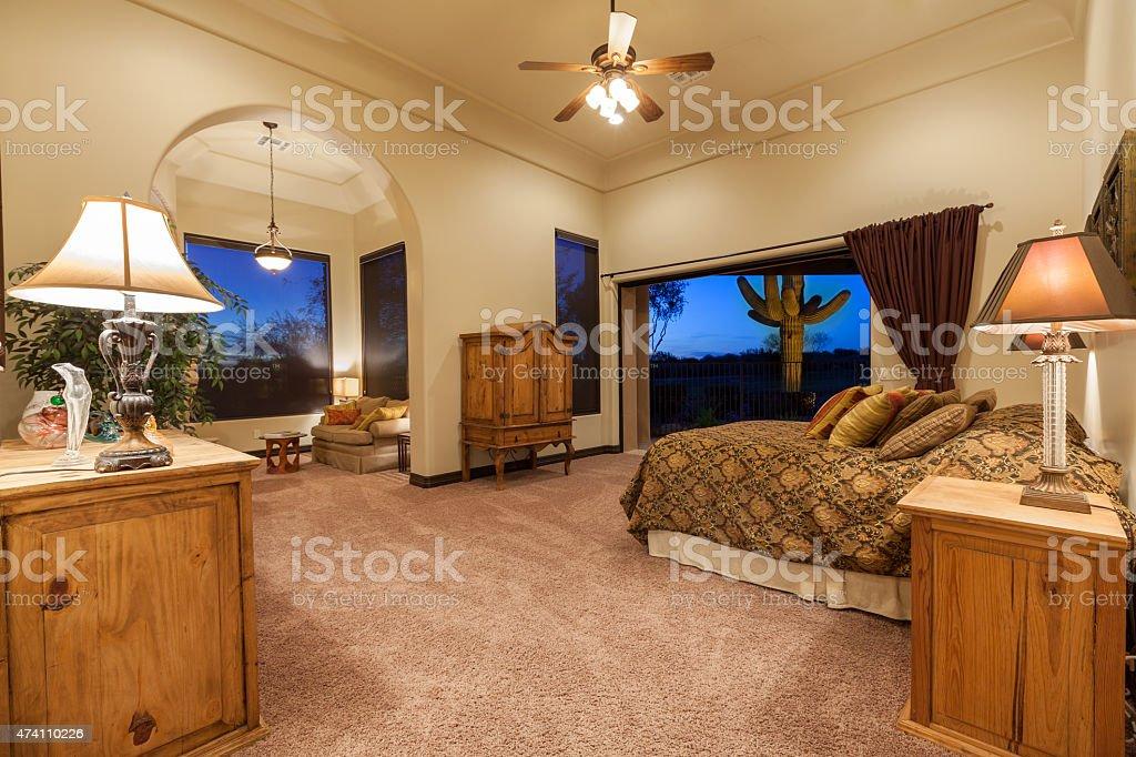 Master Bedroom Luxury stock photo