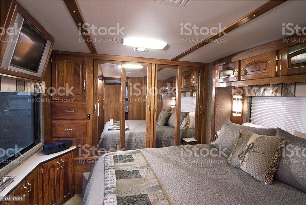 Master bedroom mirror doors royalty-free stock photo