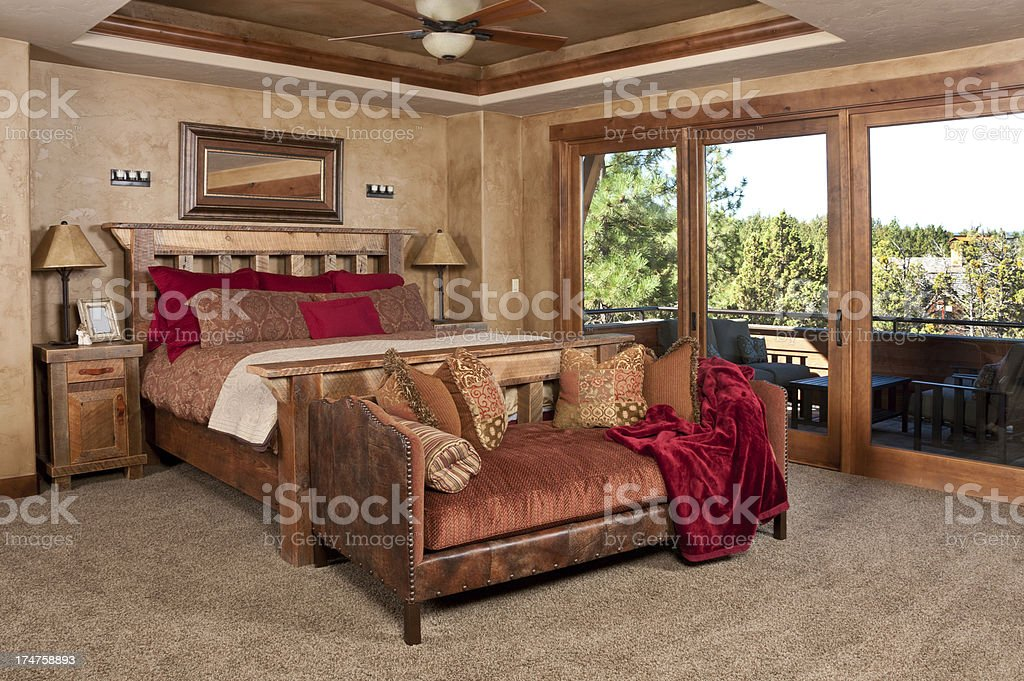 Master bedroom stock photo