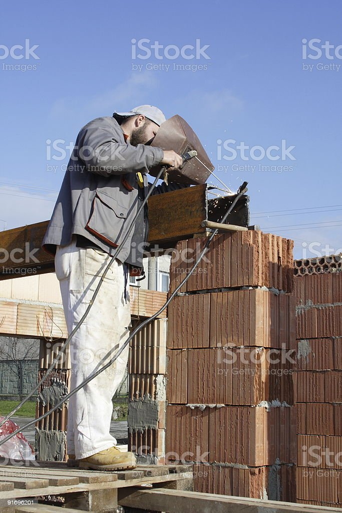 Master bricklayer royalty-free stock photo