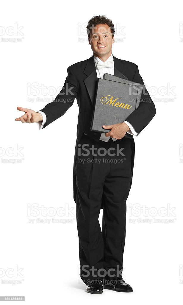 Maitre D royalty-free stock photo