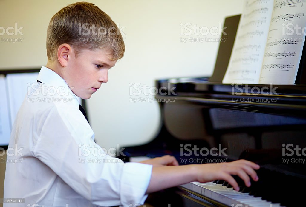 Miniature maestro stock photo