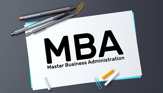 MBA Master of Business Administration Concept