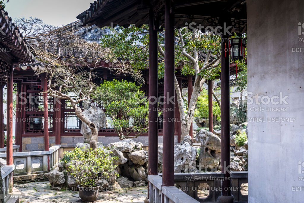 Master of the Nets Garden, Suzhou, Jiangsu Province, China stock photo