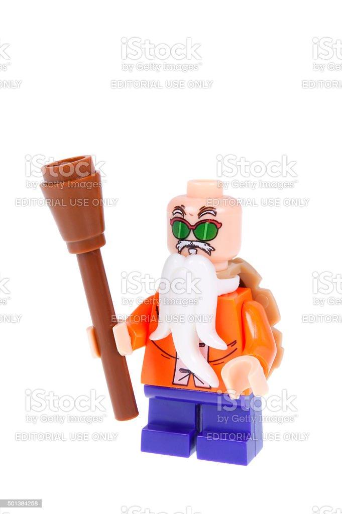 Master Roshi Dragonball Z Custom Lego Minifigure Stock Photo