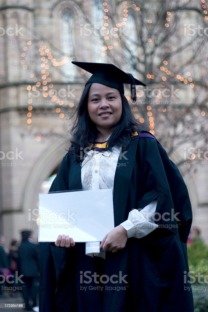 Masters graduate royalty-free stock photo