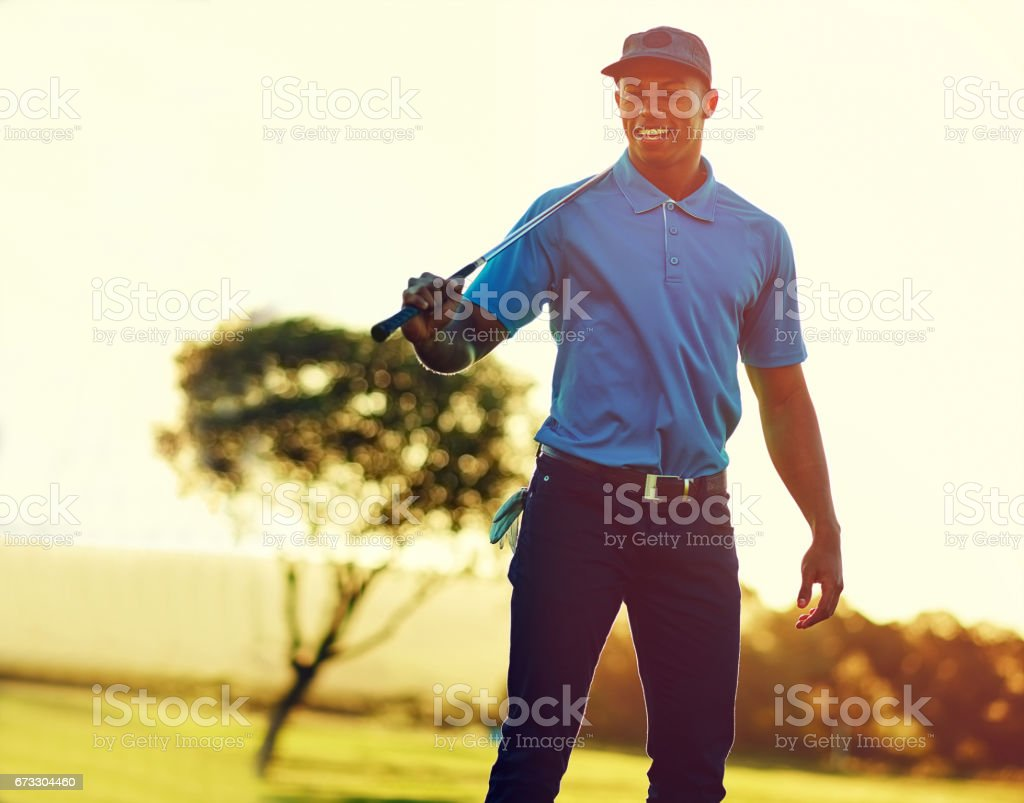 Masters, here I come stock photo
