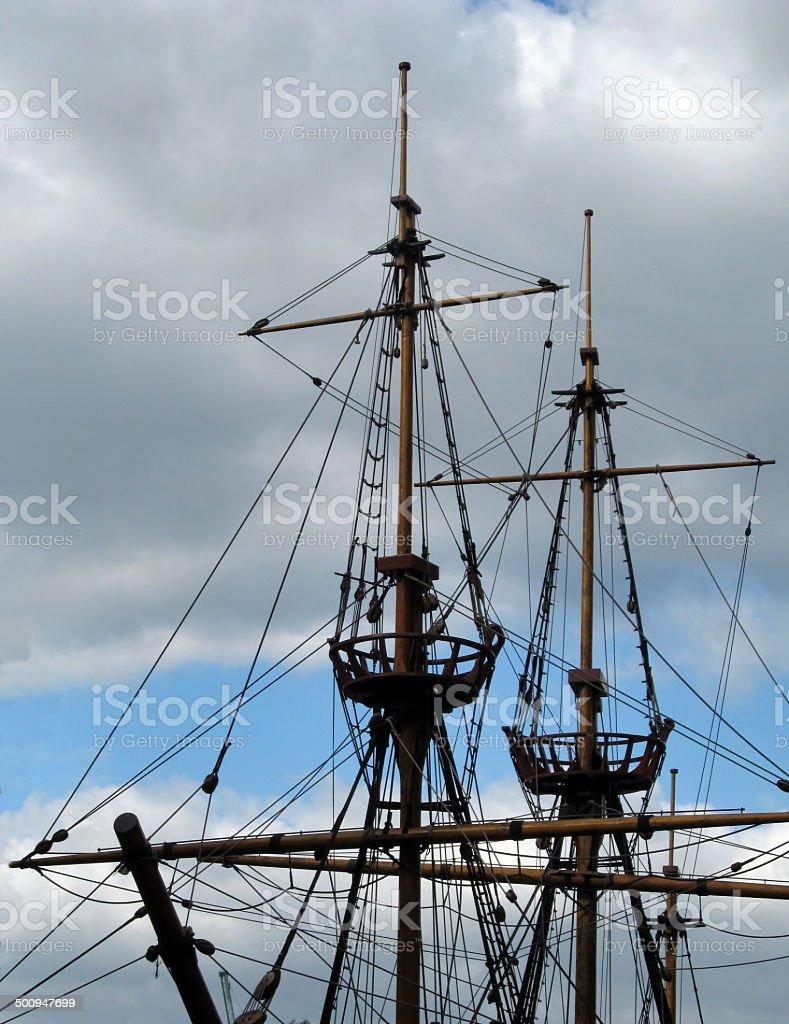 Masts royalty-free stock photo