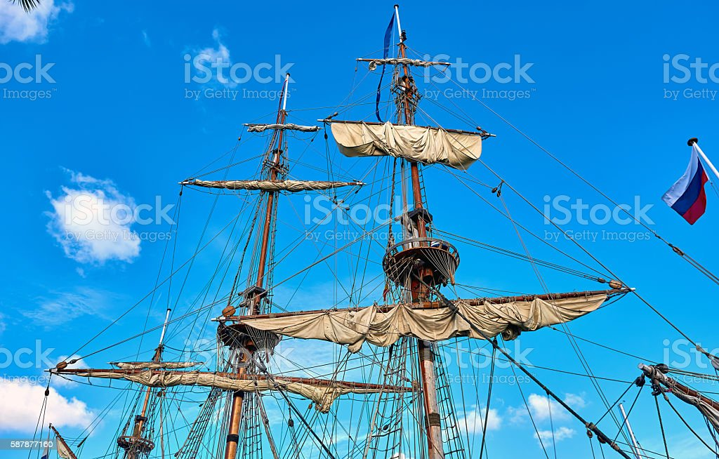 Masts stock photo
