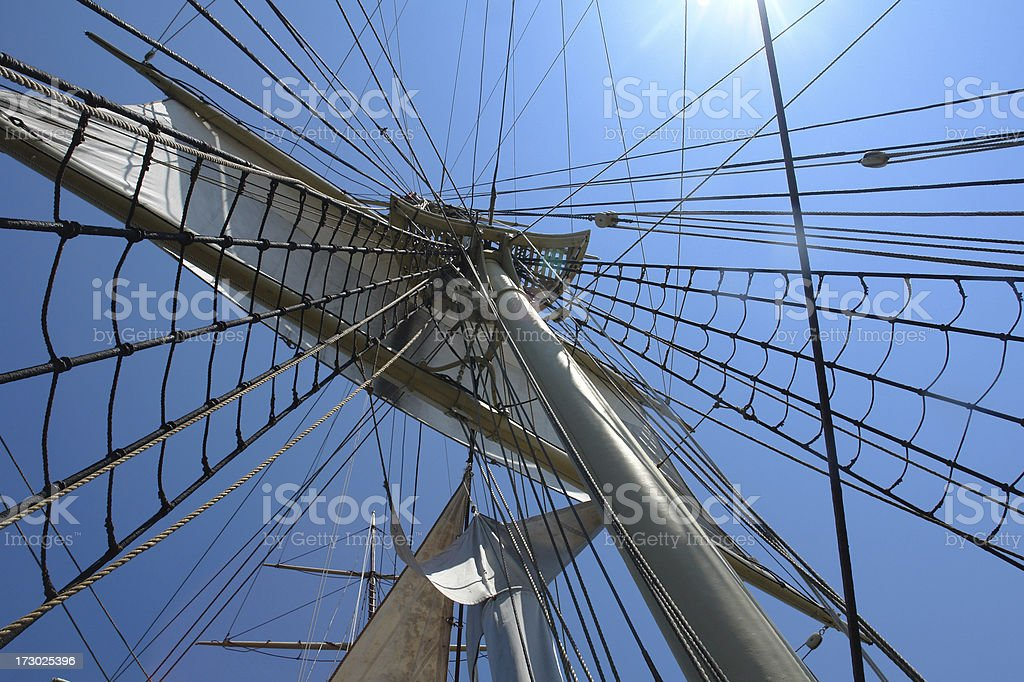 masts riggings and sails stock photo