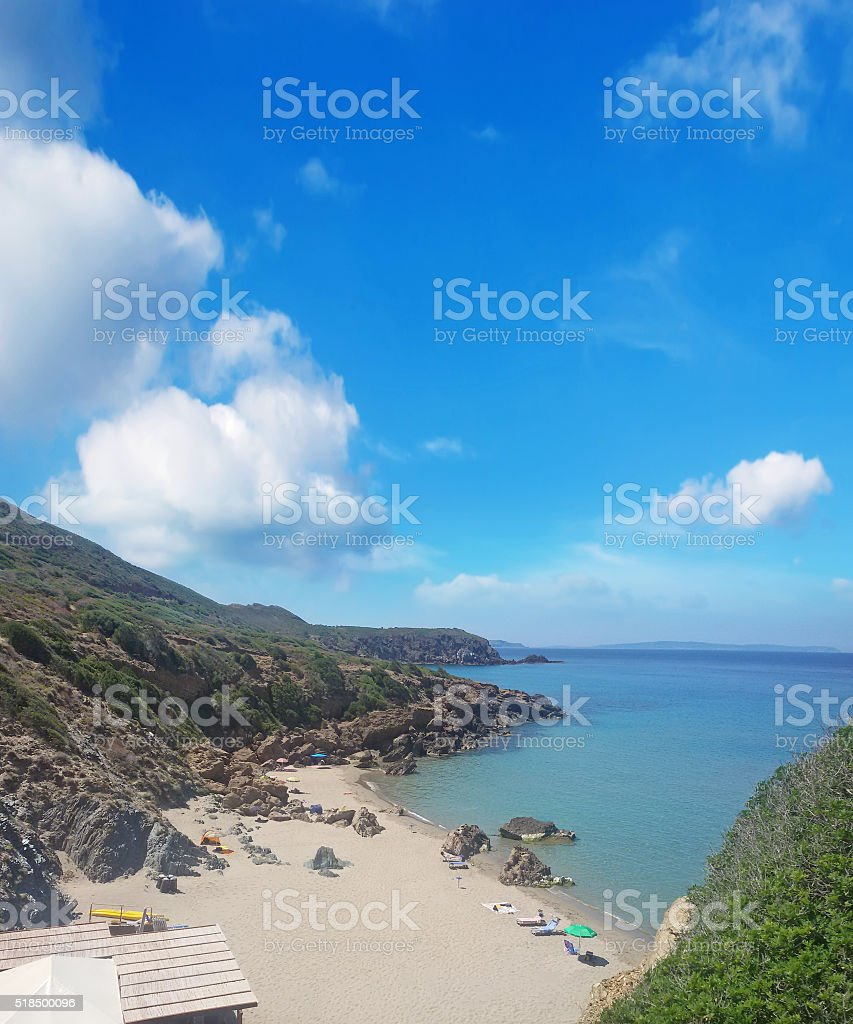 Masua beach stock photo
