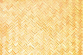 Mat background, bamboo natural texture. Yellow wicker Thailand wall
