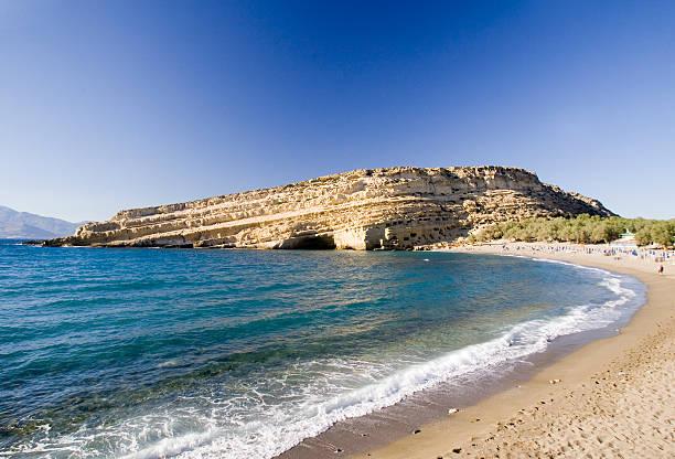 Matala Blick auf den Strand – Foto