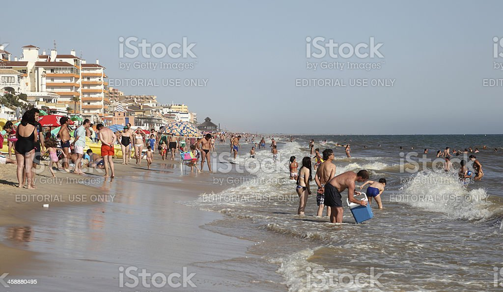 Matalascanas beach. Andalusia Spain royalty-free stock photo