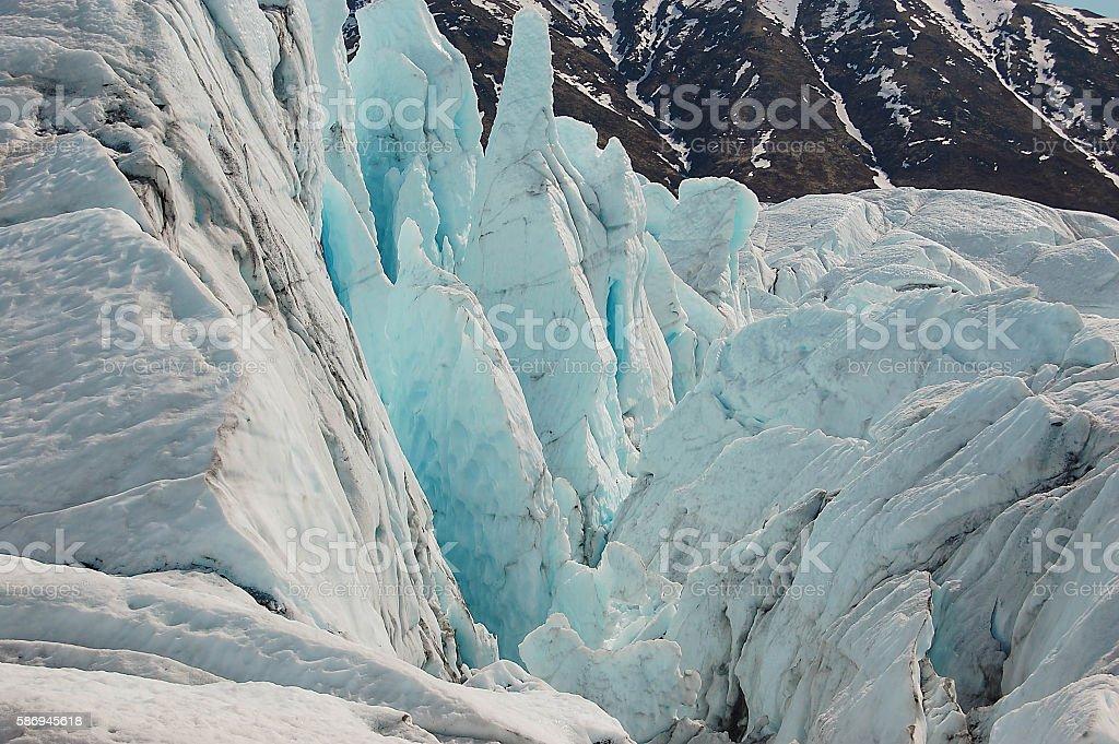 Matanuska Glacier, AK stock photo
