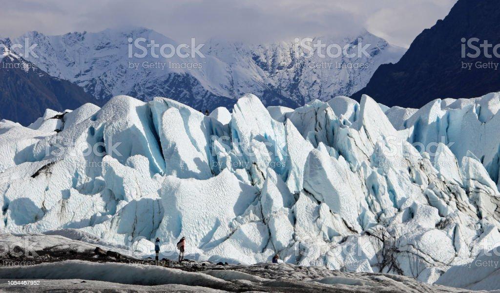 Matanuska Glacier Hiking I, Alaska stock photo