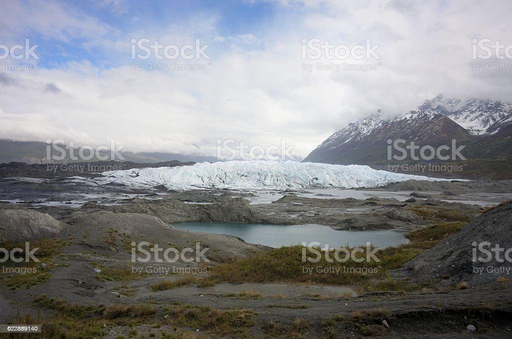 Matanuska Glacier mouth from scenic viewpoint stock photo