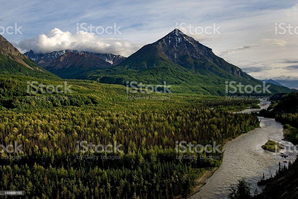 Matanuska River stock photo