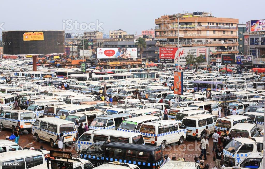Matatu Station In Kampala City Center Uganda Stock Photo More