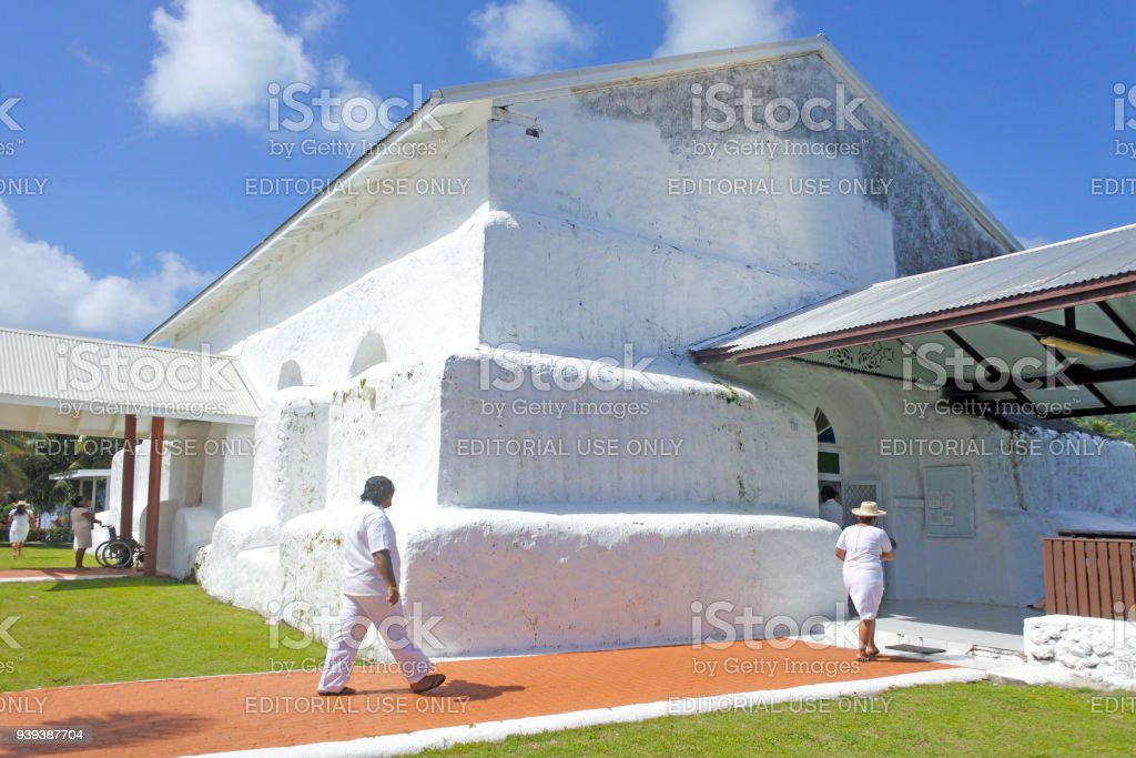 Matavera Cook Islands Christian Church Rarotonga stock photo