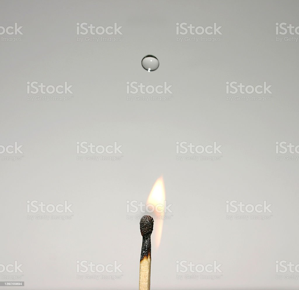 Match about to go out royalty-free stock photo