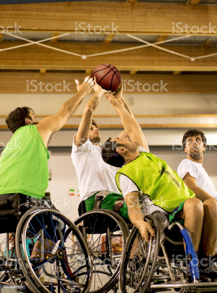 Match Between Disabled Basketball Players stock photo